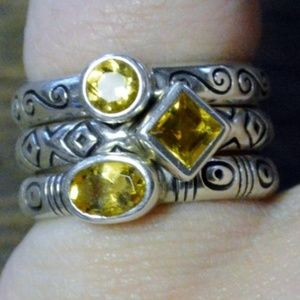 Brighton Sterling Silver Citrine Stacking Rings